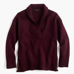 J. Crew Collection Bonded Shawl Popover Sweater